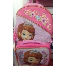 24 Units of Sophia The First Backpack With Insulated Lunch Box Cooler - Licensed Backpacks