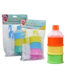 48 Units of Powder Case + 2 Piece Bottle Brush - Baby Bottles