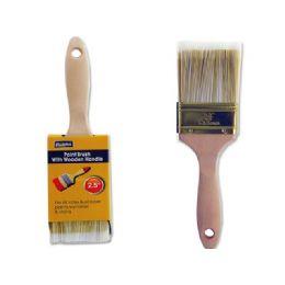 144 Units of Paint Brush W/ Wood Handle 2.5 - Hardware Miscellaneous