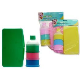 48 Units of Wiper Holder And Powder Case In Assorted Colors - Baby Accessories