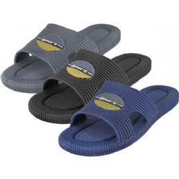 36 Units of Men's Soft Rubber Shower Slides - Men's Slippers