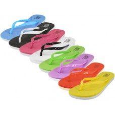 48 Units of Women's Soft Comfort Rubber Flip Flops - Women's Flip Flops