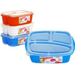 72 Bulk 3 Section Food Storage With Lids