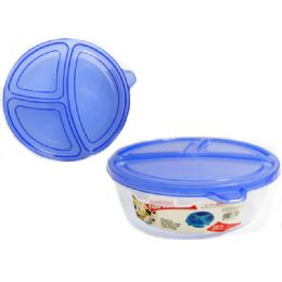 72 Units of 3 Section Food Container - Food Storage Containers