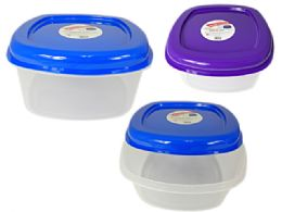 60 Units of Square Food Container With Air Vent - Food Storage Containers