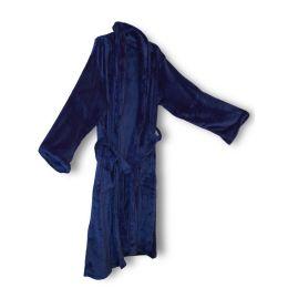 12 Bulk Unisex Mink Touch Luxury Robe In Navy
