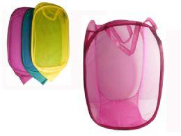 96 Units of Jumbo Pop Up Laundry Hamper - Laundry Baskets & Hampers