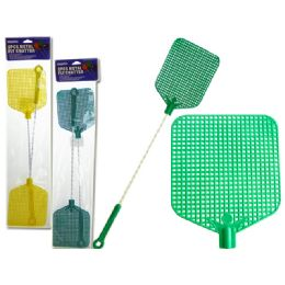 96 Units of 2 Piece Metal Fly Swatters - Pest Control