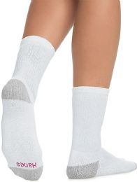 Hanes Crew Sock For Woman Shoe Size 4-10 White - Samples