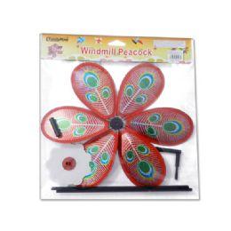144 Units of Peacock Pinwheel - Wind Spinners