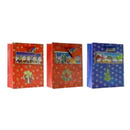 144 Units of Christmas Medium Sized Gift Bag - Christmas Gift Bags and Boxes