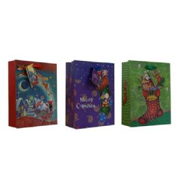 96 Units of Christmas Xlarge Sized Gift Bag - Christmas Gift Bags and Boxes