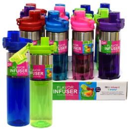 24 Wholesale Infuser Bottle 26oz Flip Top