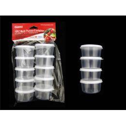48 Bulk 10pc Round Multipurpose Containers