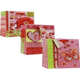 144 Units of Valentine Assorted Print Gift Bag - Valentine Gift Bag's