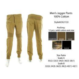 12 Units of Mens Jogger Pants 100% Cotton - Mens Pants