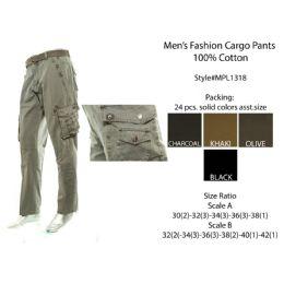 12 Units of Mens Fashion Cargo Pants 100 % Cotton - Mens Pants