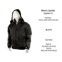 12 Units of Mens Fashion Winter Jacket - Men's Winter Jackets