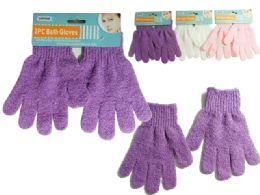 144 of 1pr Scrubbing Bath & Shower Gloves