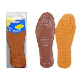 288 Units of 2 Pairs Leather Insoles - Footwear Accessories
