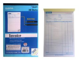 96 Units of 3 Part Invoice Book, 30 Sets - Sales Order Book