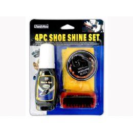 72 Units of 4 Piece Shoe Polish Set - Footwear Accessories