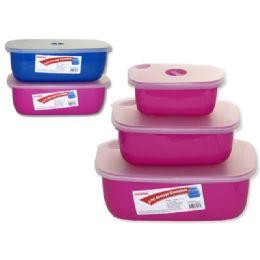 48 Bulk 3 Piece Food Storage Container