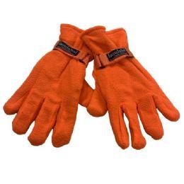 48 of Men's Orange Fleece Gloves
