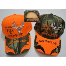 24 Units of Shootin' Deer & Drinkin' BeeR--That's How I Roll Hat - Hunting Caps