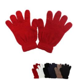 60 Units of Ladies Magic Gloves Assorted Gloves - Knitted Stretch Gloves