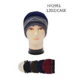 72 Units of Men's Winter Chenille Beanie Hat - Winter Beanie Hats