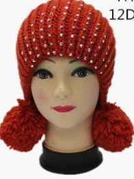 72 Bulk Women Winter Pom Pom Beanie Hat Warm Thick Slouchy Snow Knit Skull Ski Cap