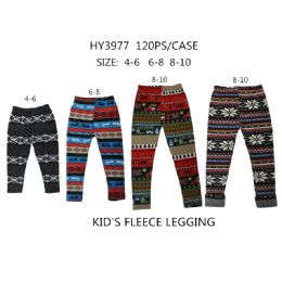60 Units of Girls Fashion Tribal Fleece Leggings - Girls Leggings