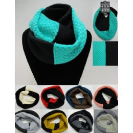 48 Units of Knitted Infinity Scarf - Womens Fashion Scarves
