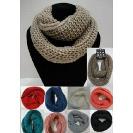 48 Units of Loose Knit Knitted Infinity Scarf - Womens Fashion Scarves