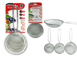 96 Units of 3 Piece Strainer Set - Strainers & Funnels