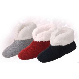 30 Units of Brny Collection Women's Ribbed Booty - Womens Slipper Sock