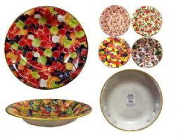 48 Units of Round Serving Bowl With Gold Trim - Serving Trays