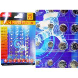 144 Units of 40 Piece Button Batteries - Batteries