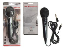 96 Units of Microphone 1pc Black - Speakers and Microphones