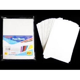 72 Units of 20 Piece Craft Foam Sheets - Foam & Felt