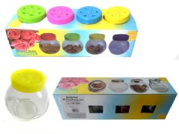 24 Bulk Glass Storage Jars 4pcs