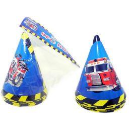 """72 Units of Hats Party 8pc 6.3""""fighting - Party Favors"""