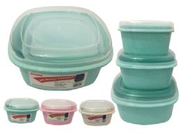 48 Bulk 3 Piece Square Food Containers
