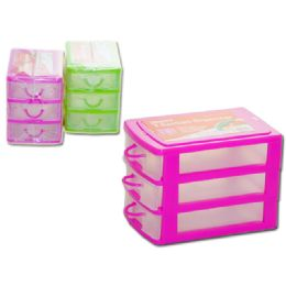 72 Bulk Storage Organizer 3 Sectionasst Clr
