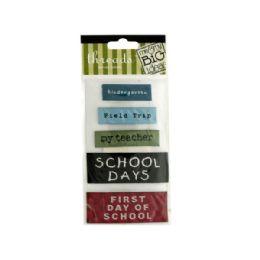 144 of School Woven Labels