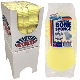 54 Units of Yellow Bone Shape Auto Sponge - Auto Cleaning Supplies