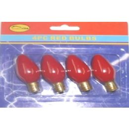 144 of 4pc Night Light Bulbs Red
