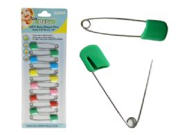 144 Units of Baby Diaper PinS- 12 Piece - Baby Accessories