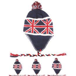 72 Bulk Great Britain Flag Chullo Hat